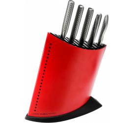 Komplet 5 noży w czerwonym bloku GKB-52CR