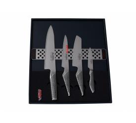 Zestaw 4 noży + listwa magnetyczna
