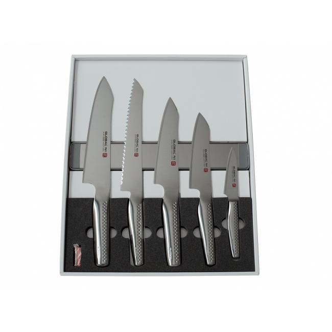 Zestaw 5 noży NI + listwa magnetyczna