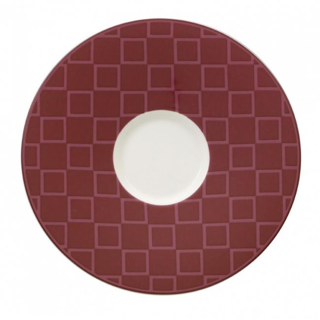 Spodek Caffe Club Berry 17cm do filiżanki śniadaniowej
