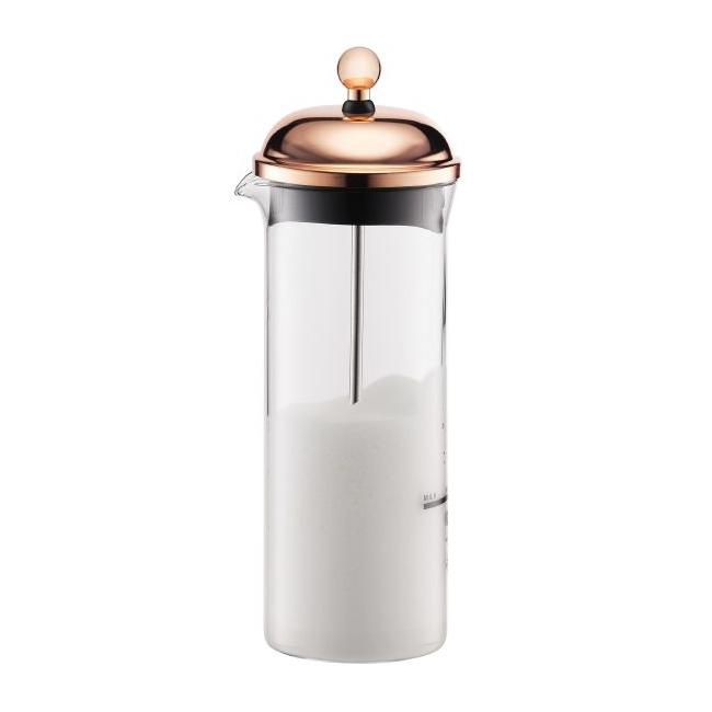 Spieniacz 150ml do mleka miedziany