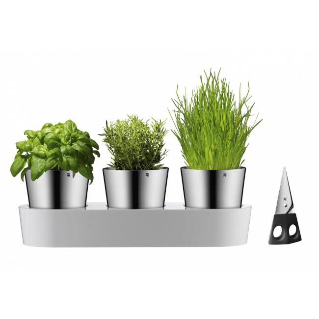 Doniczka na zioła samonawadniająca + nożyczki do ziół