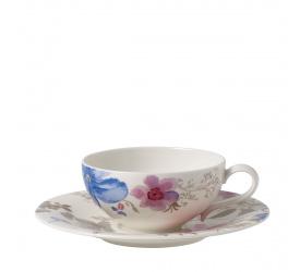 Filiżanka ze spodkiem Mariefleur Gris 240ml do herbaty