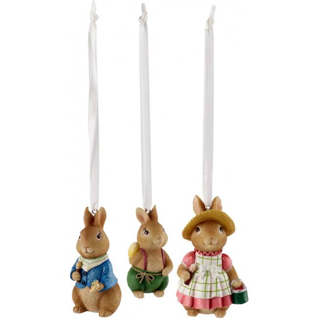 Komplet 3 zawieszek Bunny Tales zajączki
