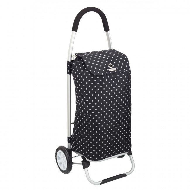 Wózek black polka dot na zakupy