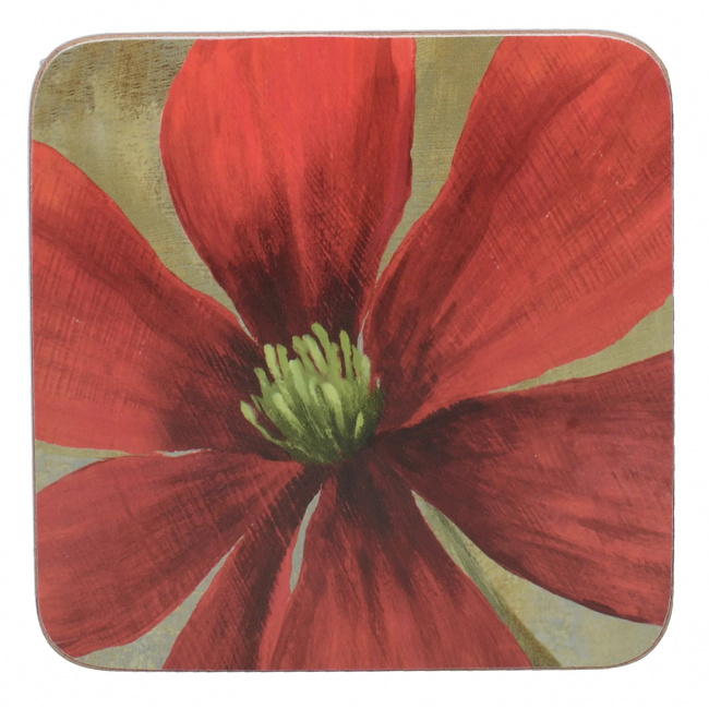 Komplet 6 podkładek Flower Study 10x10cm