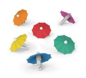 Komplet 6 parasolek do napoi