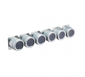 Komplet 6 pojemników na listwie magnetycznej
