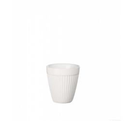 Kubek termiczny thermo mug striped 80ml biały