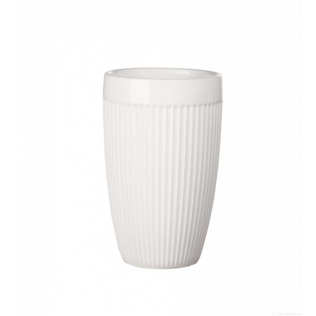 Kubek termiczny thermo to go striped 350ml biały