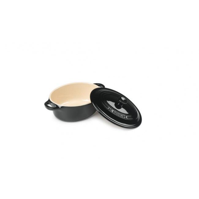Garnek Mini cocotte owalny 12cm czarny