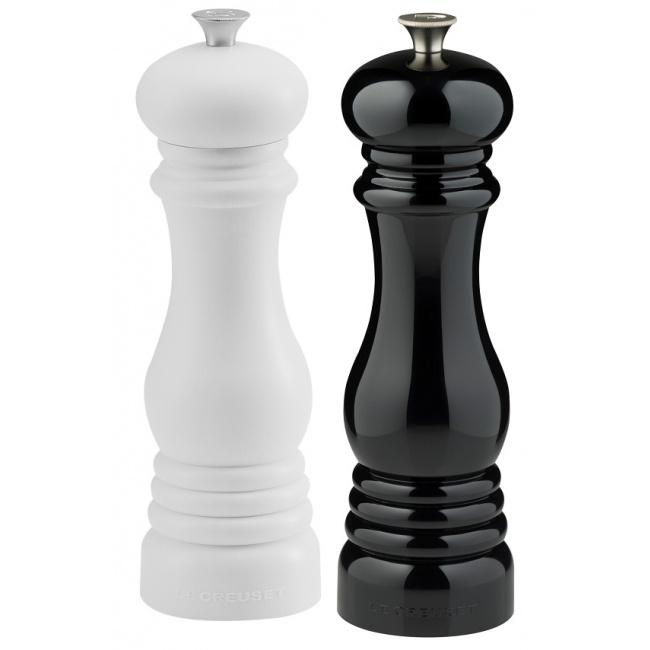 Komplet 2 młynków 21cm czarny i biały