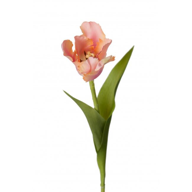 Kwiat tulipan różowo-pomarańczowy 37cm