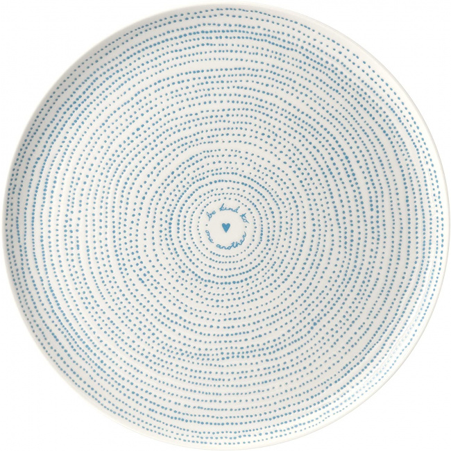 Półmisek Ellen Degeneres 32cm Polar Blue Dots