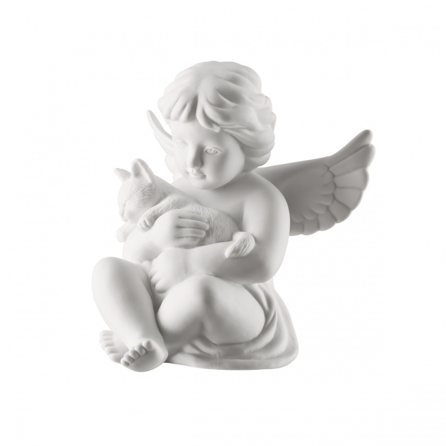 Aniołek duży z kotem