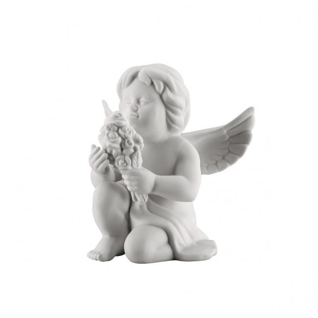 Aniołek średni z kwiatami