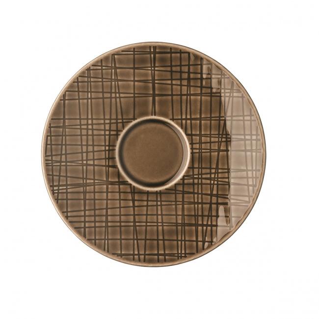 Spodek Mesh Walnut 12cm do filiżanki do espresso