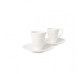 Komplet 2 filiżanek ze spodkami La Classica Nuova 100ml do espresso
