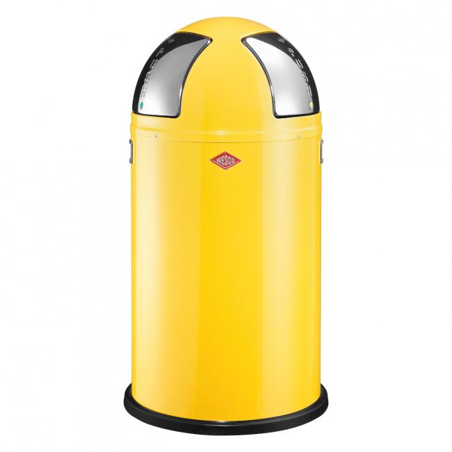 Kosz na odpady Push Two 50l żółty