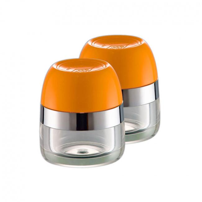 Komplet pojemników do soli/pieprzu pomarańczowy