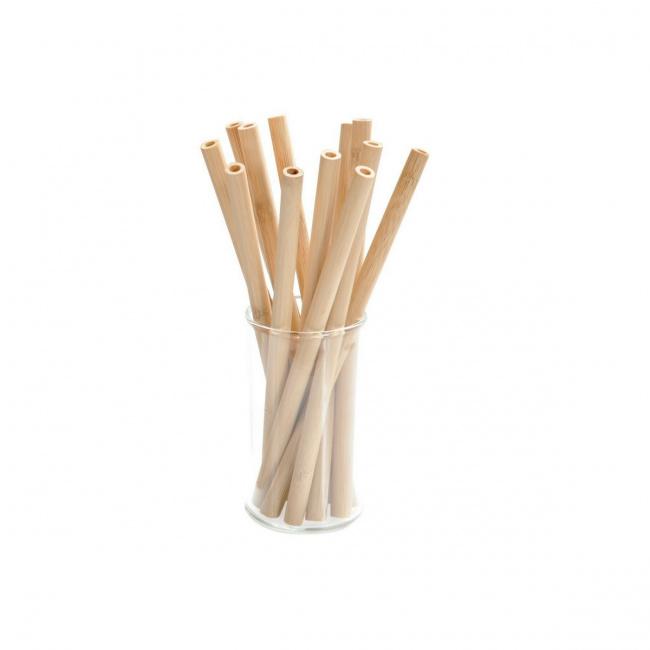 Komplet 12 słomek bambusowych 20cm
