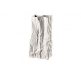 Wazon torebka 22cm biały