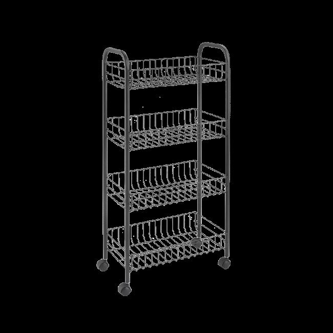 Wózek kuchenny/łazienkowy 84x41x23cm czarny