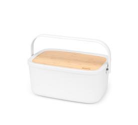 Chlebak z drewnianą pokrywką