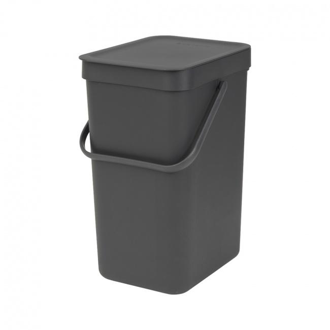 Kosz na odpady Sort & Go 12l czarny