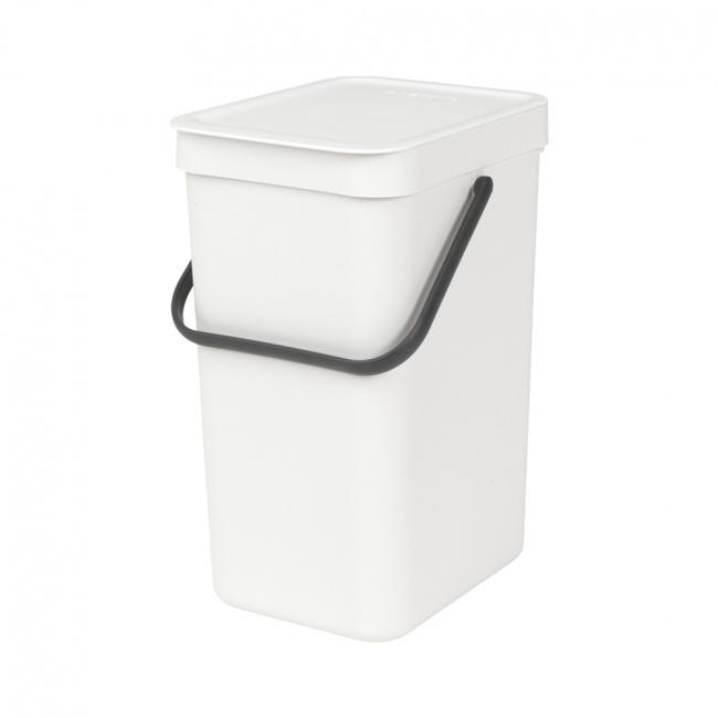 Kosz na odpady Sort & Go 12l biały