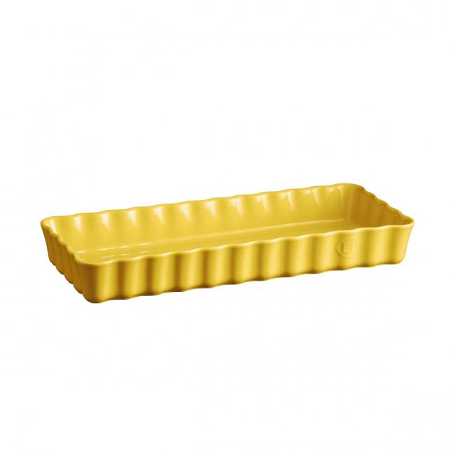 Naczynie do tarty 36x15cm prostokątne żółte