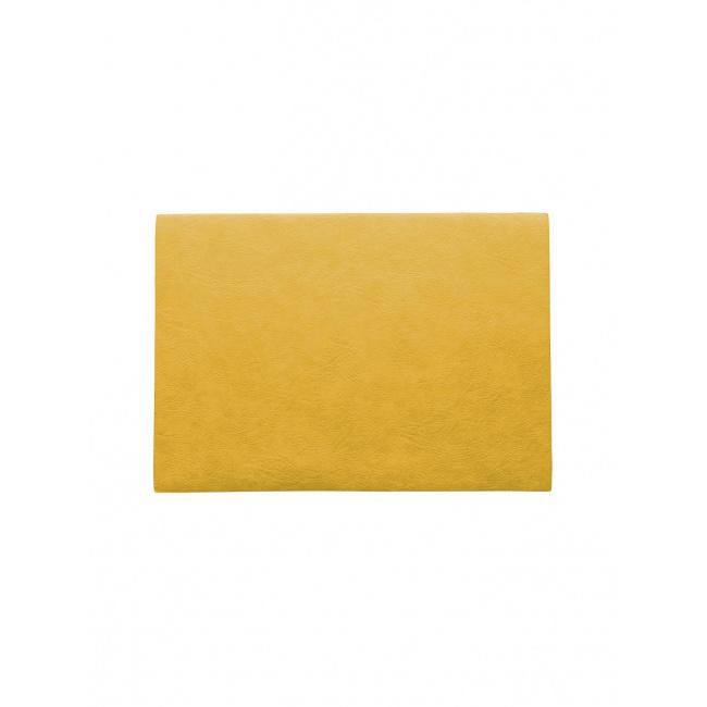Podkładka Vegan leather 46x33cm żółta