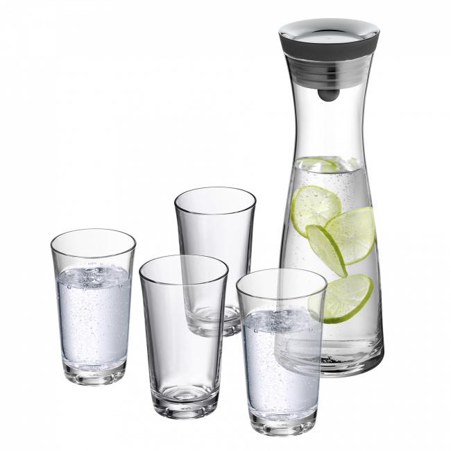 Karafka Basic 1l + 4 szklanki