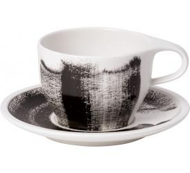 Filiżanka ze spodkiem Coffee Passion Awake 350ml do białej kawy