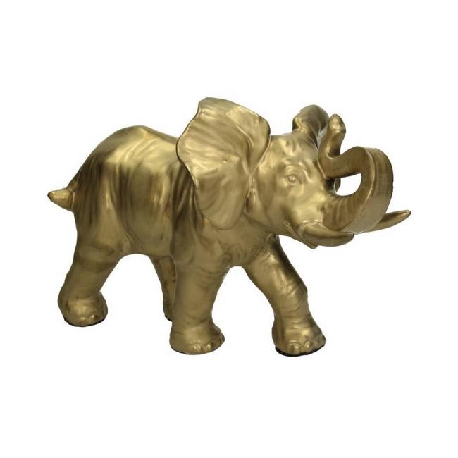 Figurka Słoń 23cm złota