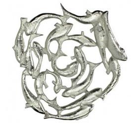 Misa Ryba 54x50cm srebrna