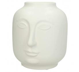 Wazon Face 19x17cm biały