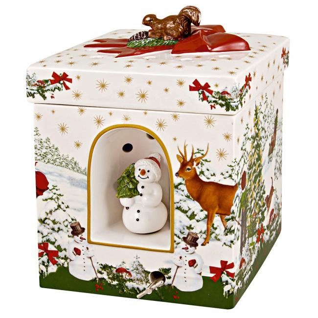 Pozytywka, świecznik Christmas Toys 16x20cm Choinka