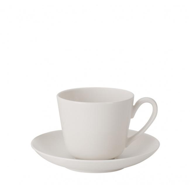 Filiżanka ze spodkiem Twist White 100ml do espresso