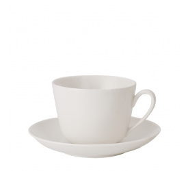 Filiżanka ze spodkiem Twist White 200ml do kawy/herbaty