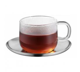 Filiżanka ze spodkiem SensiTea 250ml do herbaty