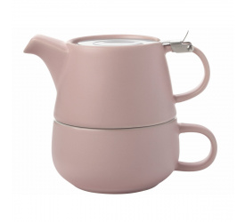 Dzbanek z filiżanką  Tea for one 1,2l Rose