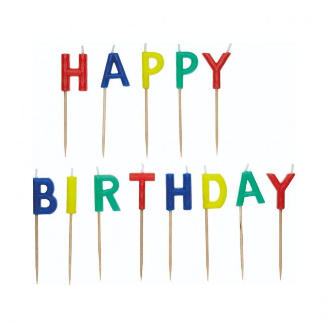 Zestaw świeczek Happy Birthday