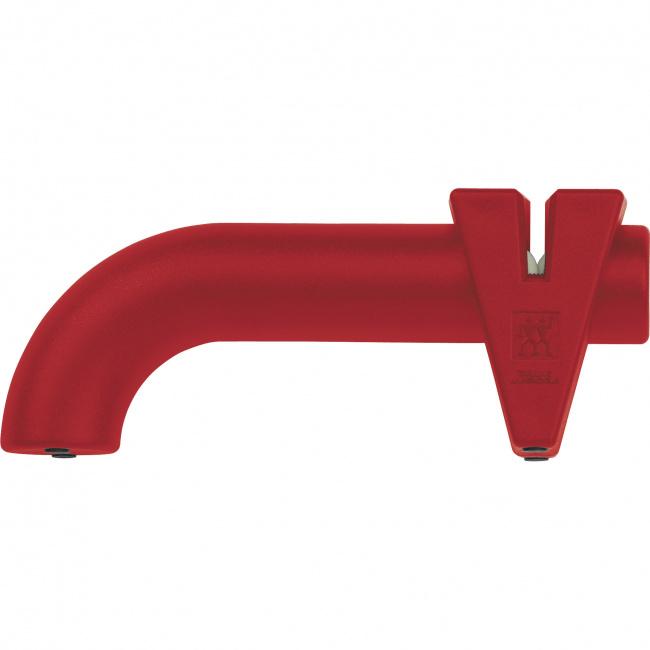 Ostrzałka stalowo-ceramiczna krążkowa czerwona