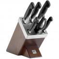 Zestaw 5 noży w bloku Four Star + nożyczki