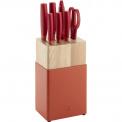 Zestaw 5 noży w bloku Now S czerwony