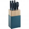 Zestaw 5 noży w bloku Now S niebieski