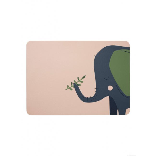 Podkładka ekoskóra 46x33cm słoń Emma
