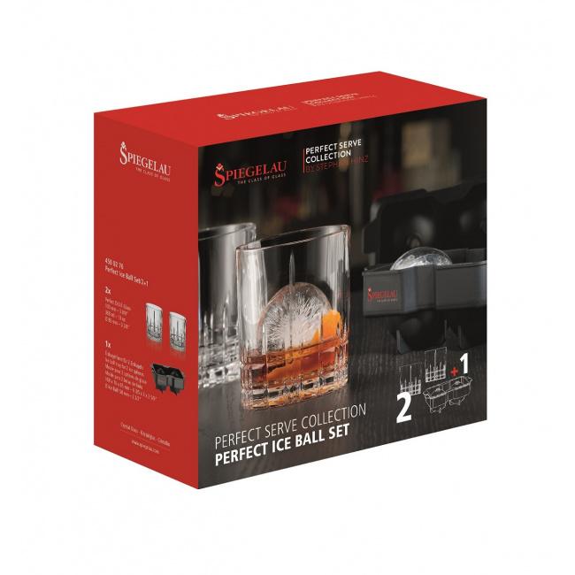 Komplet 2 szklanek Perfect 368ml + forma do lodu