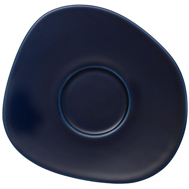 Spodek Organic Dark Blue 17cm do filiżanki do kawy
